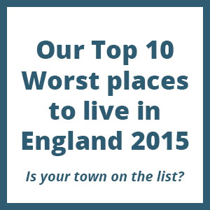 Top 10 worst places to live in England 2015