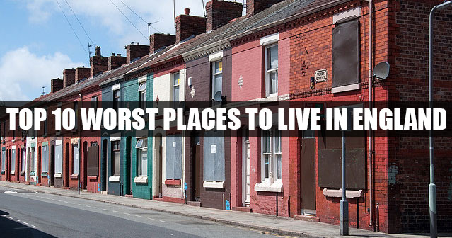 Top 10 worst places to live in england 2015 for Top 10 best cities to live in