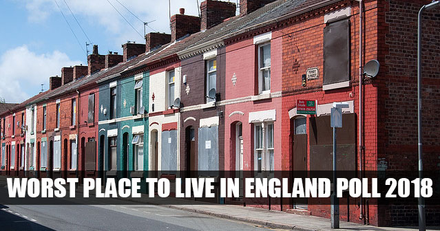 Worst place to live in England poll 2018