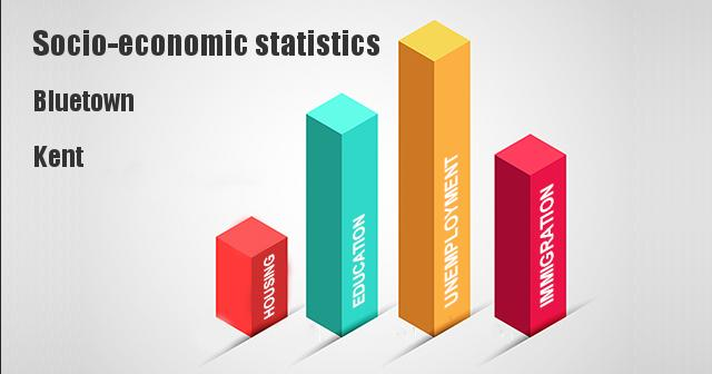 Socio-economic statistics for Bluetown, Kent