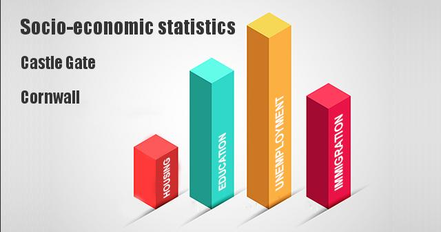 Socio-economic statistics for Castle Gate, Cornwall, Cornwall