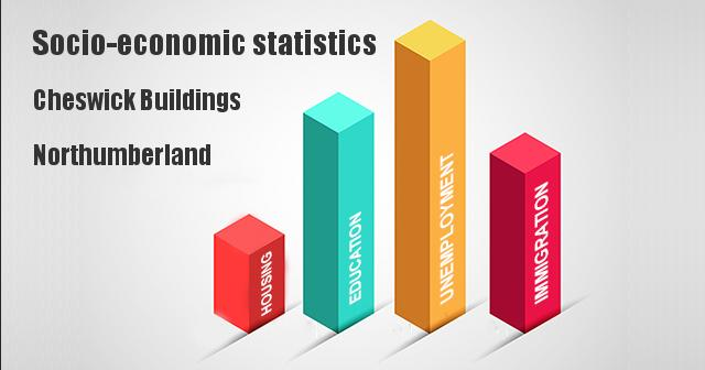 Socio-economic statistics for Cheswick Buildings, Northumberland