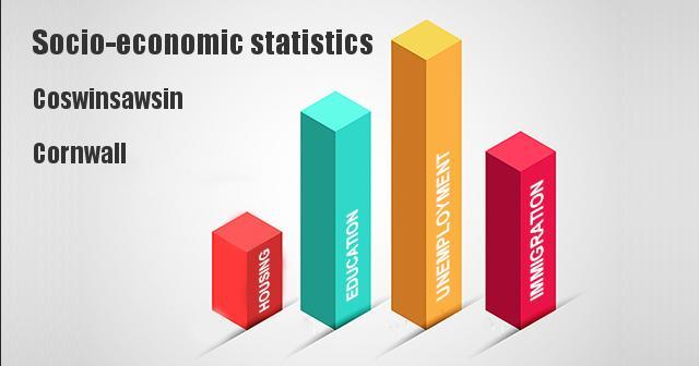 Socio-economic statistics for Coswinsawsin, Cornwall