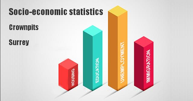 Socio-economic statistics for Crownpits, Surrey