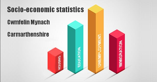 Socio-economic statistics for Cwmfelin Mynach, Carmarthenshire