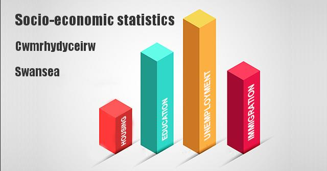 Socio-economic statistics for Cwmrhydyceirw, Swansea