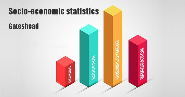 Socio-economic statistics for Gateshead,