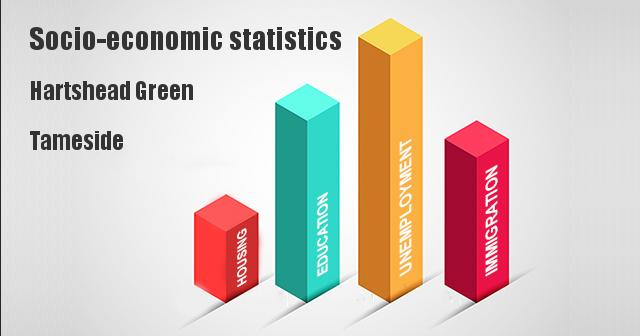 Socio-economic statistics for Hartshead Green, Tameside
