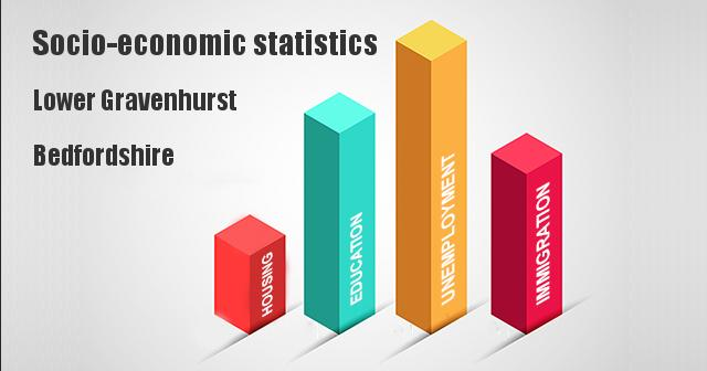 Socio-economic statistics for Lower Gravenhurst, Bedfordshire