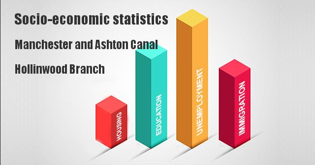 Socio-economic statistics for Manchester and Ashton Canal, Hollinwood Branch, Tameside