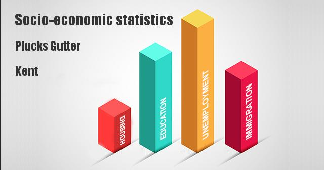 Socio-economic statistics for Plucks Gutter, Kent