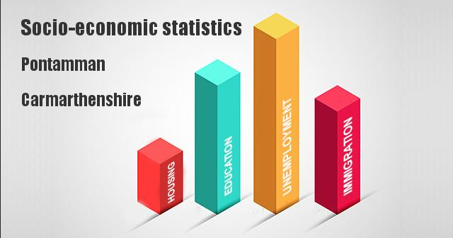 Socio-economic statistics for Pontamman, Carmarthenshire
